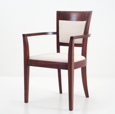Harpswell Arm Chair with Back in Walnut