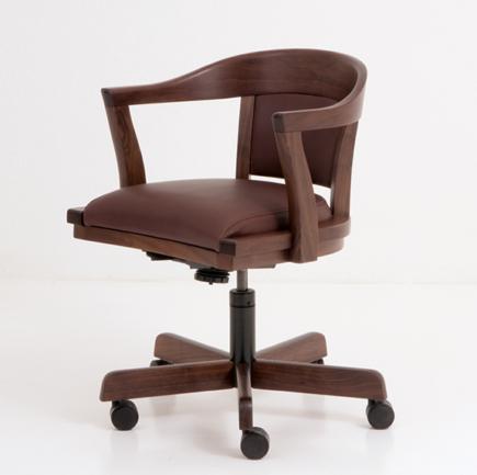 Regent Swivel Chair in Walnut