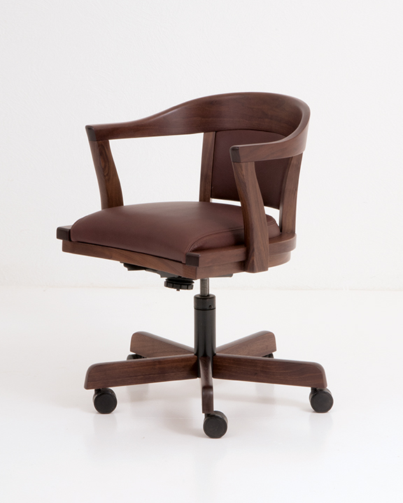 Regent Swivel Chair in Walnut