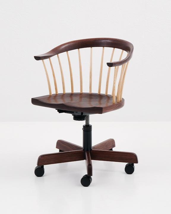 Newport Swivel Chair in Walnut