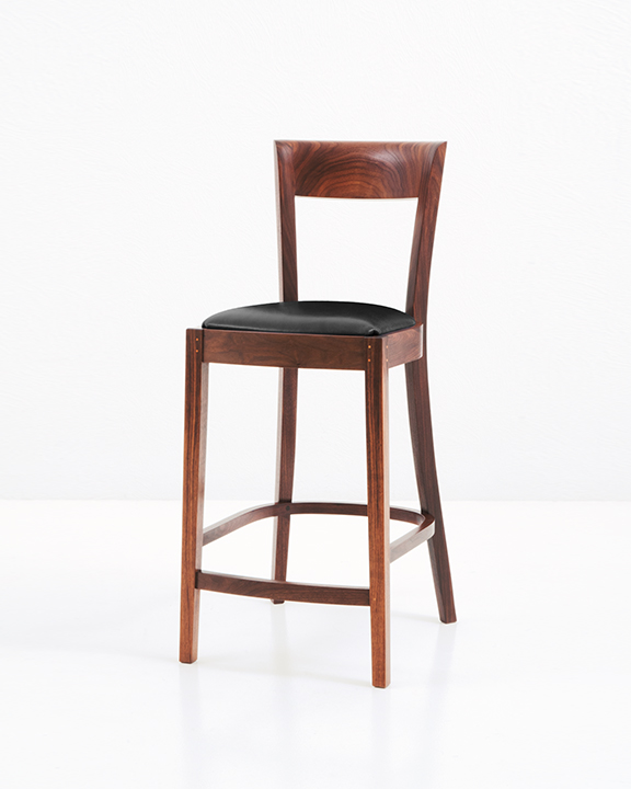 Harpswell Stool in Walnut