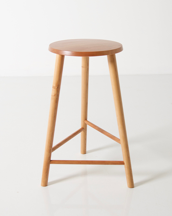 Hallowell Stool in Cherry