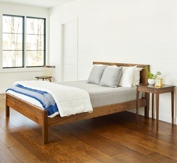 Thos. Moser's Handmade Wooden Studio bed, shown in Walnut