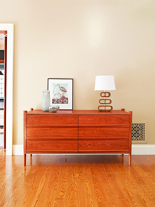 Ellipse Six Drawer Horizontal Dresser in Cherry