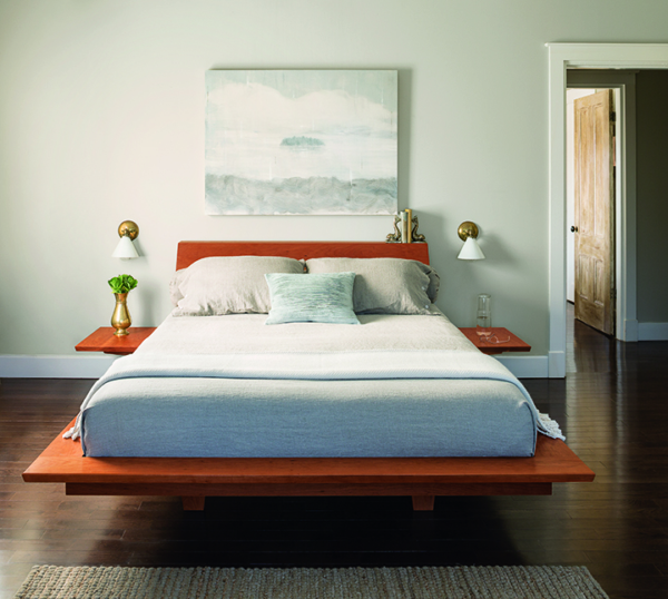 Edo Platform Bed in Cherry