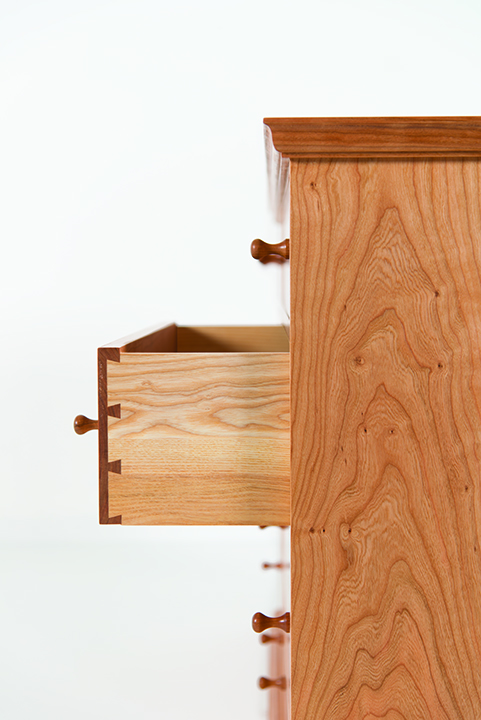 Eight Drawer Side Chest in Cherry
