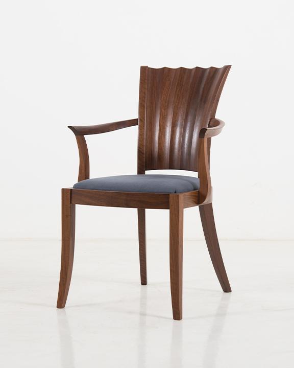 Aria Arm Chair in Walnut