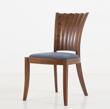 Aria Side Chair in Walnut