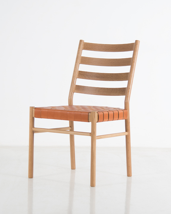 Hancock Side Chair in White Oak