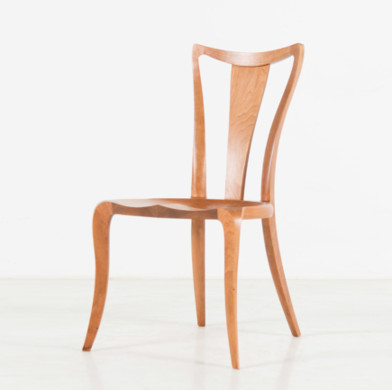 Pasadena Side Chair with Back in Cherry