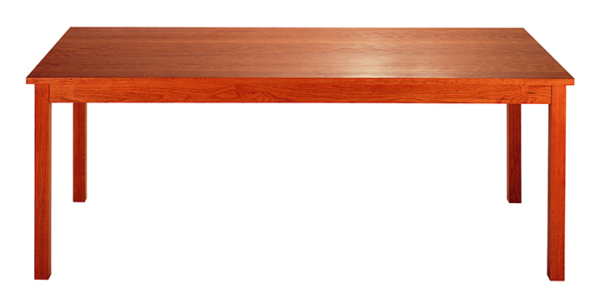 Rectangular Table Desk in Cherry