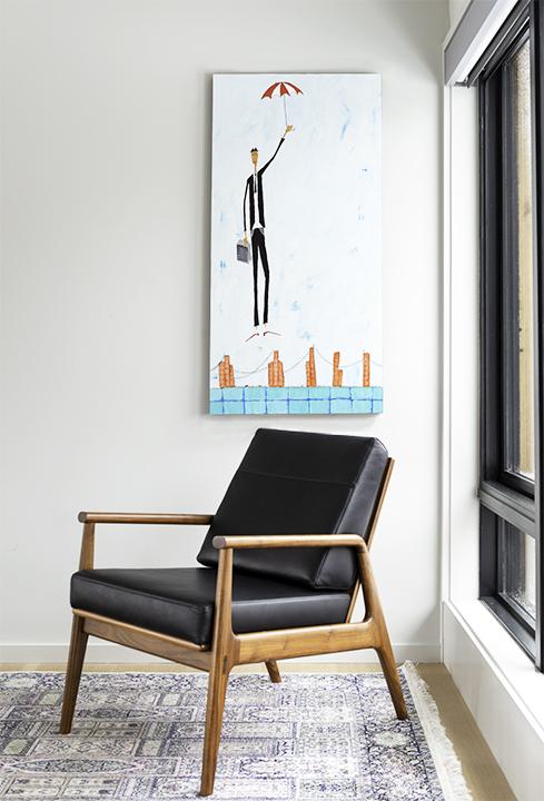 Fahmida Lounge Chair in Walnut