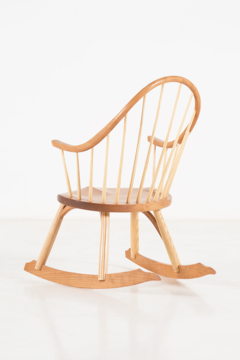 Child's Continuous Arm Chair in Cherry