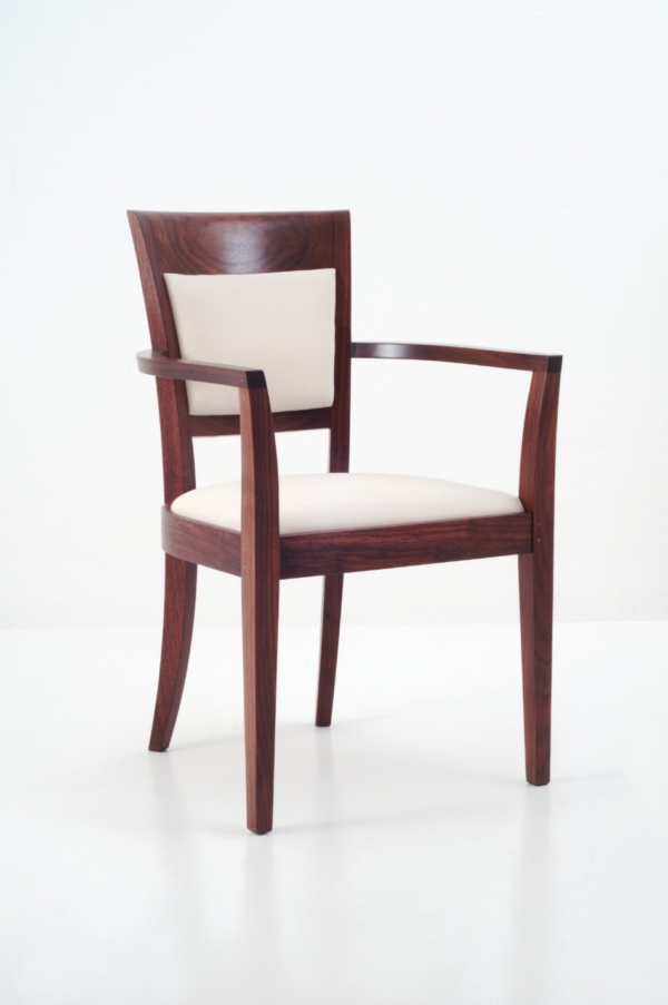 Harpswell Arm Chair with Back - Walnut