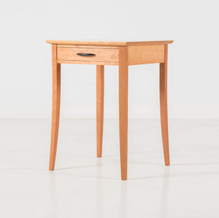 Crescent End Table in Cherry
