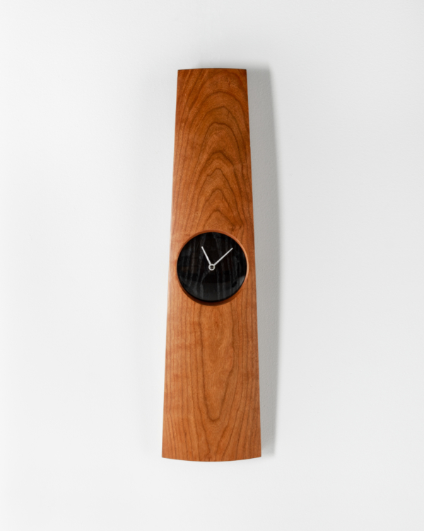 Omni Clock in Cherry