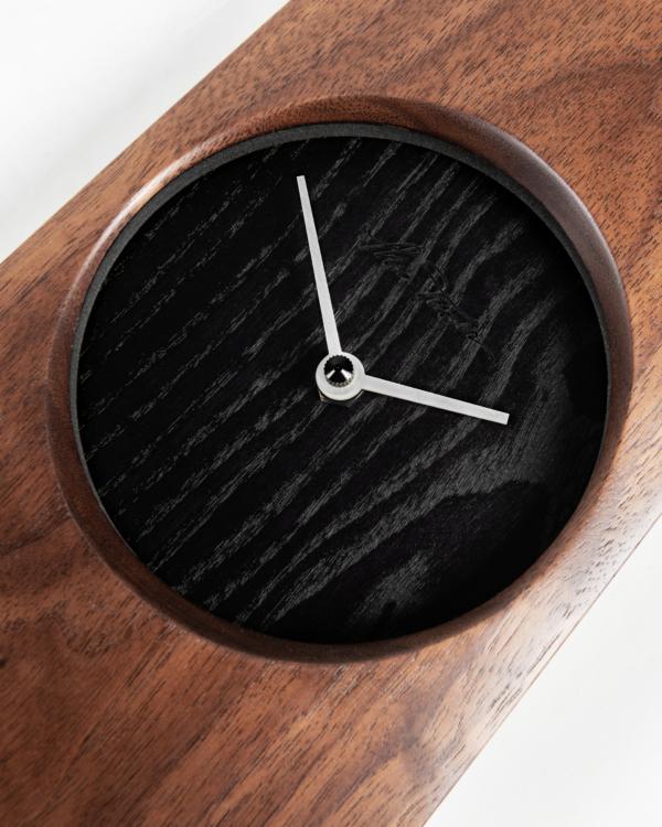 Omni Clock in Walnut