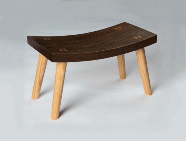 Crescent Stool - Walnut