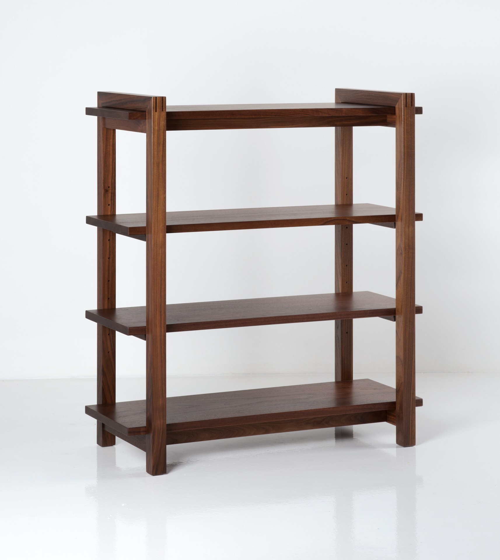 bookcases bookcase glass display fitueyes shelf rack tier black tempered swivel corner products