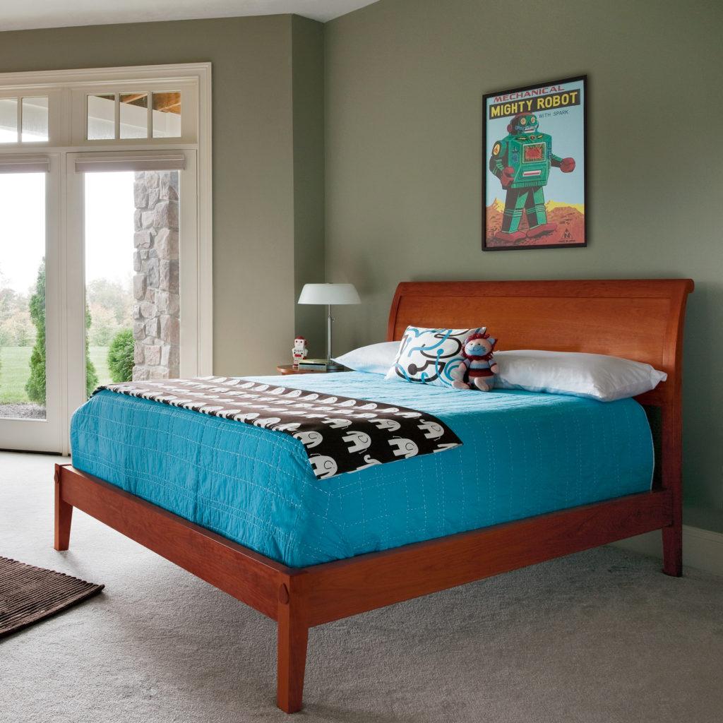 Sleigh Bed - Flat Footboard