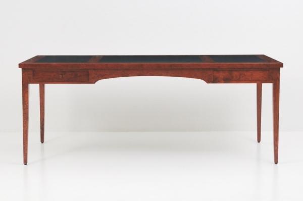 Four Leg Writing Desk w/ Leather Top - Walnut