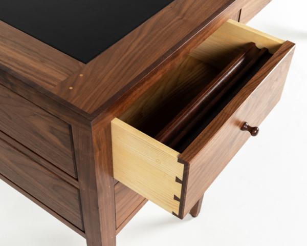 Eight Leg Writing Desk in Walnut