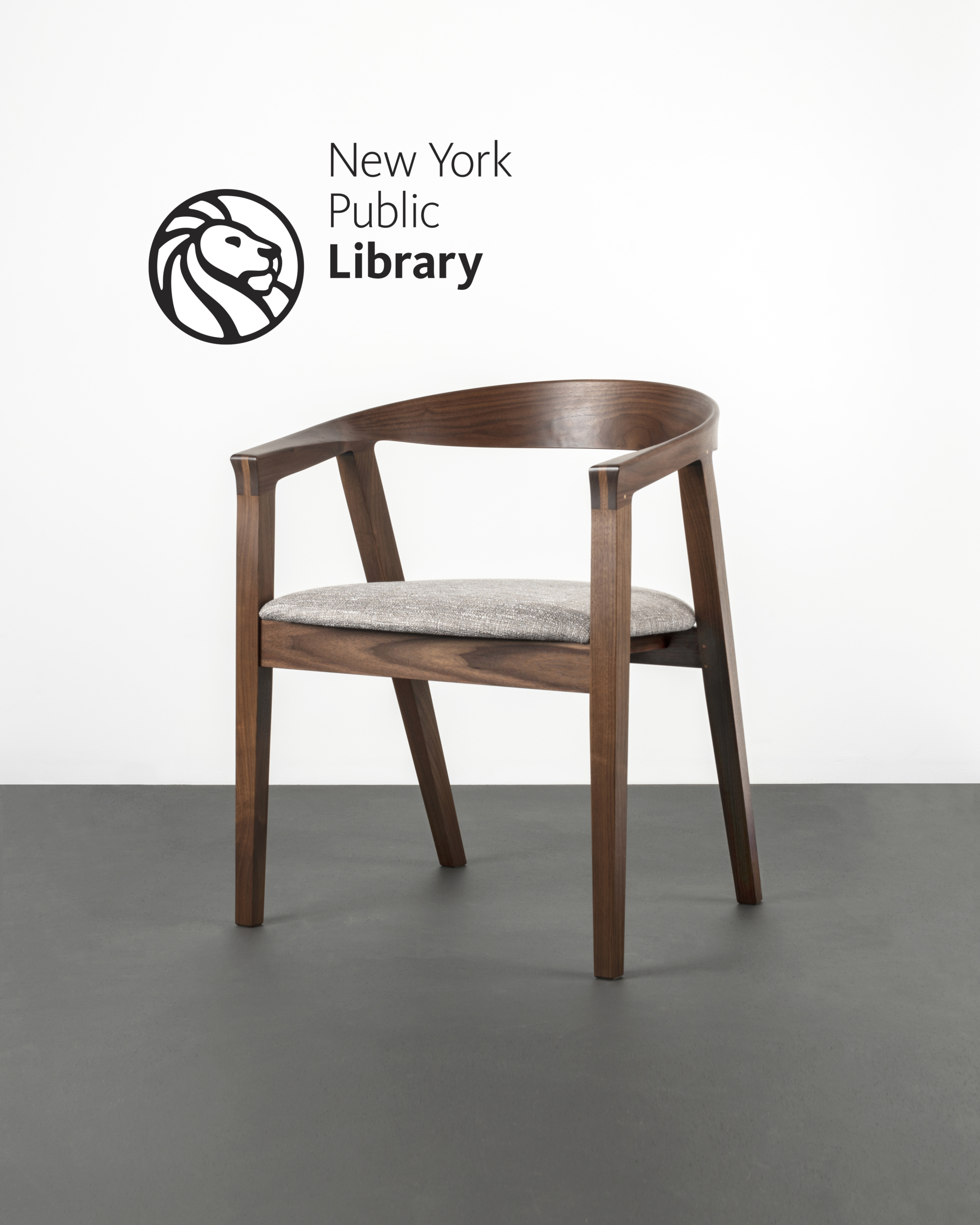 The NYPL Branch Chair with Upholstered Seat