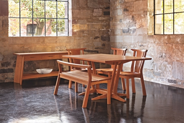 Edo Dining Chair and Table - Cherry