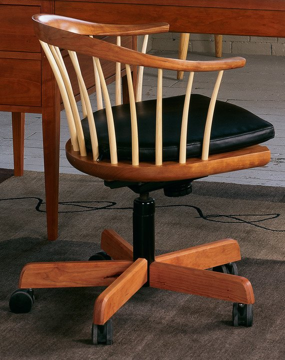 Newport Swivel Chair with Upholstered Seat