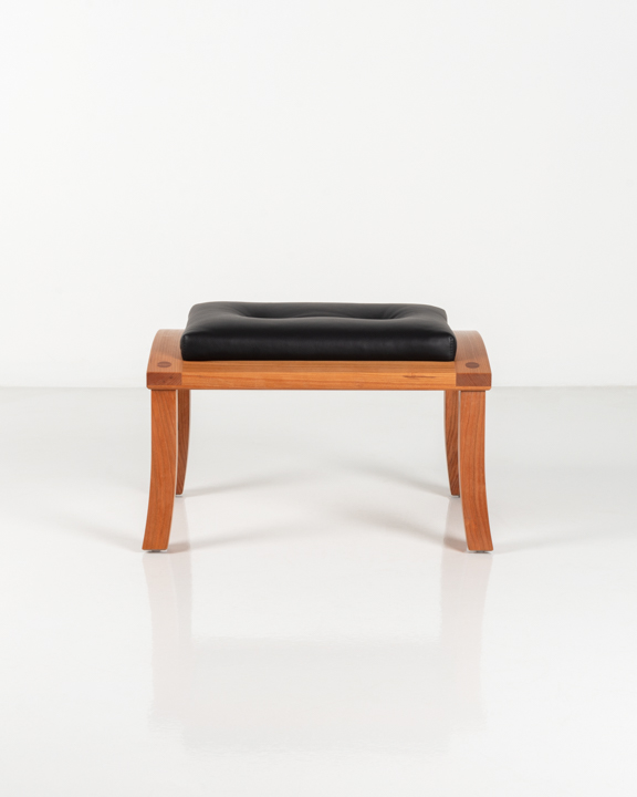 Lolling Ottoman in Cherry