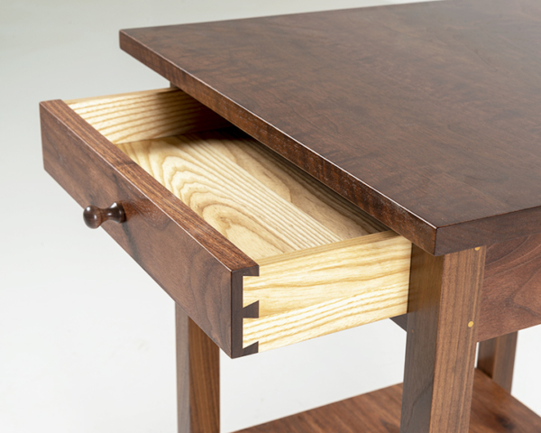 Square End Table in Walnut