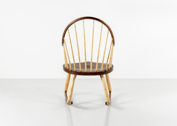 Continuous Arm Rocker in Walnut