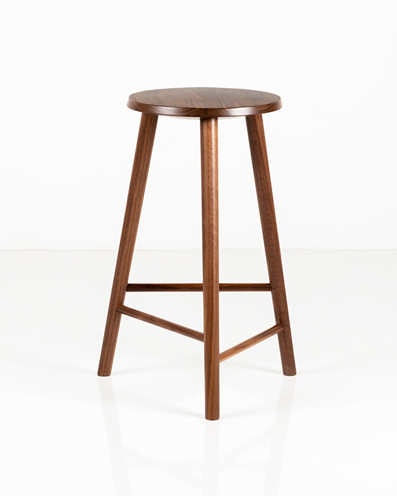 Hallowell Stool in Walnut