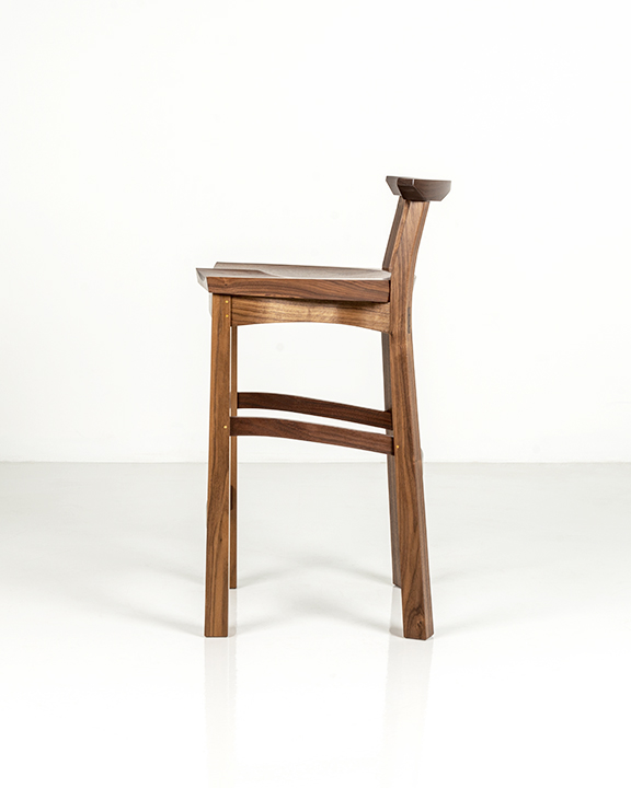 Edo Stool in Walnut