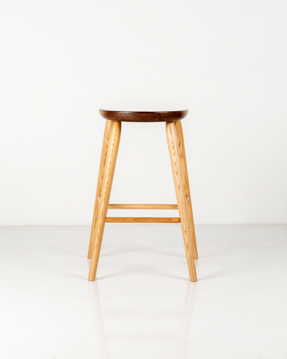 Coal Shovel Stool in Walnut