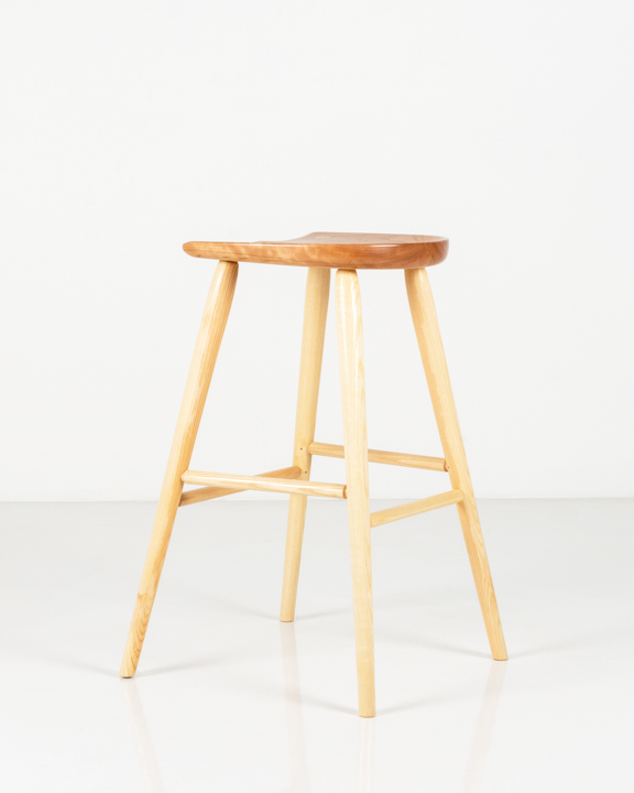 Coal Shovel Stool in Cherry