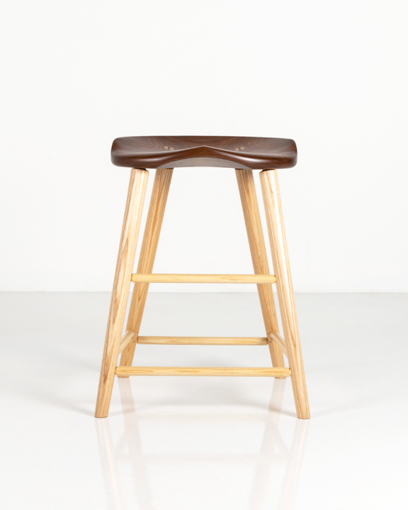 High Stool in Walnut