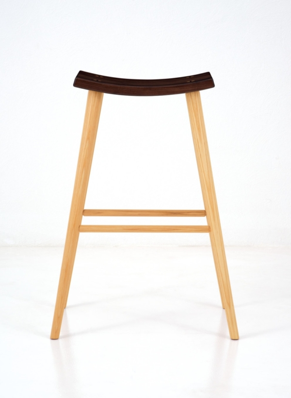 Crescent High Stool - Walnut
