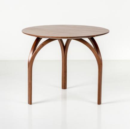Round Vault Table in Walnut