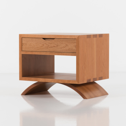 Vita Cube Side Table in Cherry