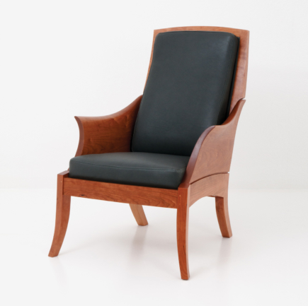 Wing Chair in Cherry